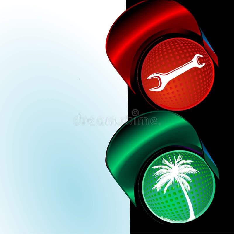 ferielampor till trafik royaltyfri illustrationer