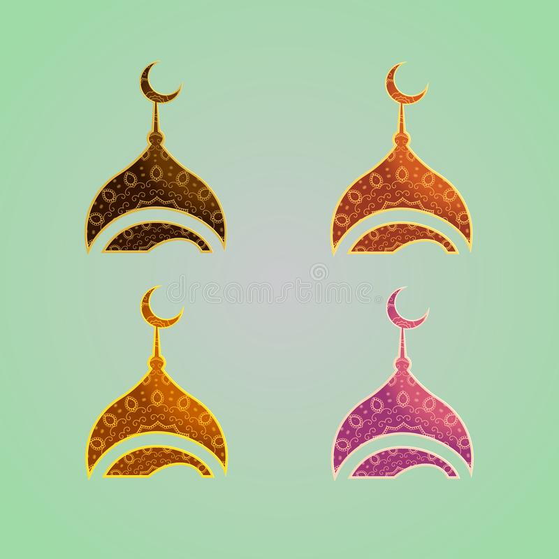 Ferielogodesign Bästa logodesigninstitution eller organisation royaltyfri illustrationer
