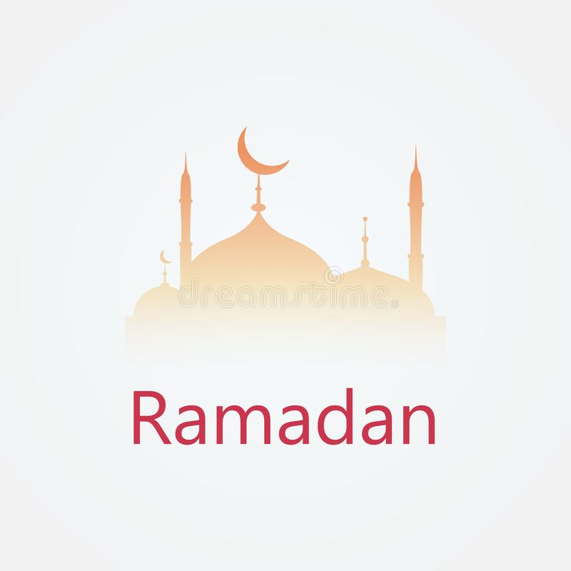 Ferielogodesign ramadan kareem stock illustrationer