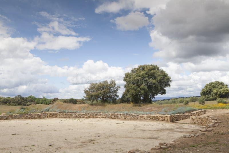 Ferien auf dem Bauernhof in Extremadura, Spanien stockfotos