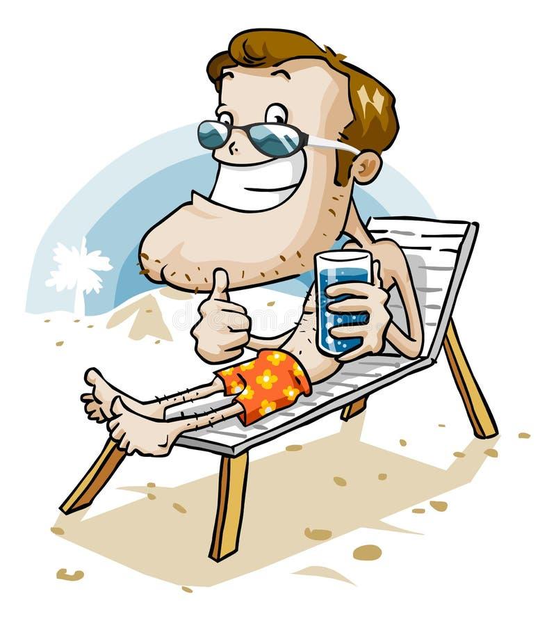 Ferien auf Strand stock abbildung
