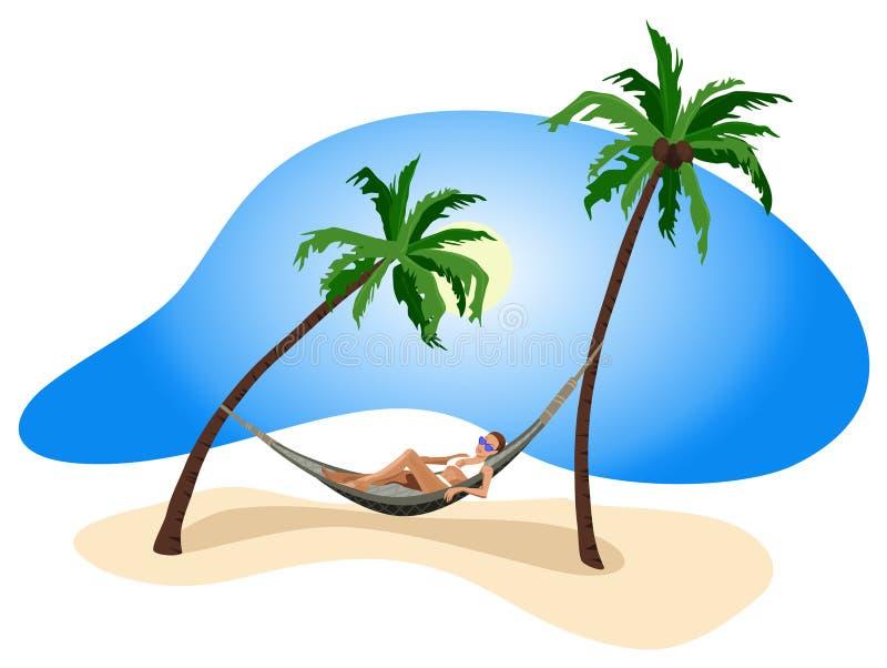 Ferien in den Tropen lizenzfreie abbildung
