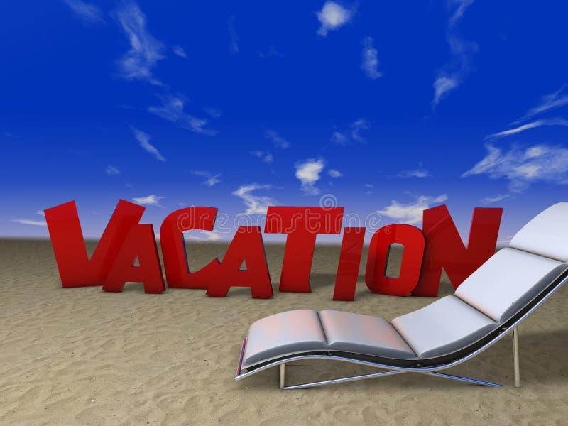 Download Ferien im Strand stock abbildung. Illustration von strand - 9094549