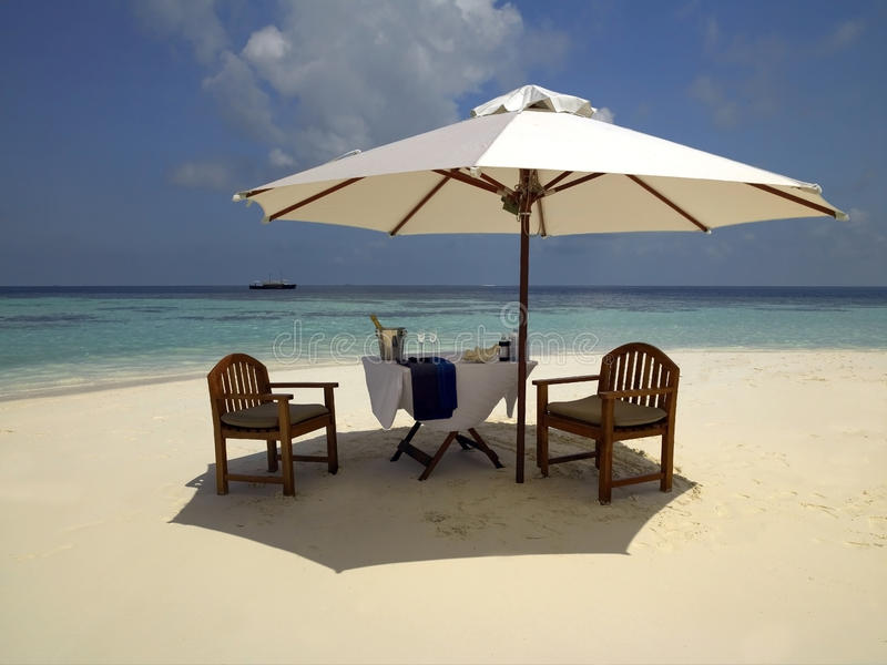 Ferien-Paradies in den Maldives stockfotografie