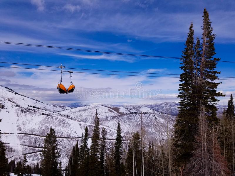 Ferien in Park City stockbilder