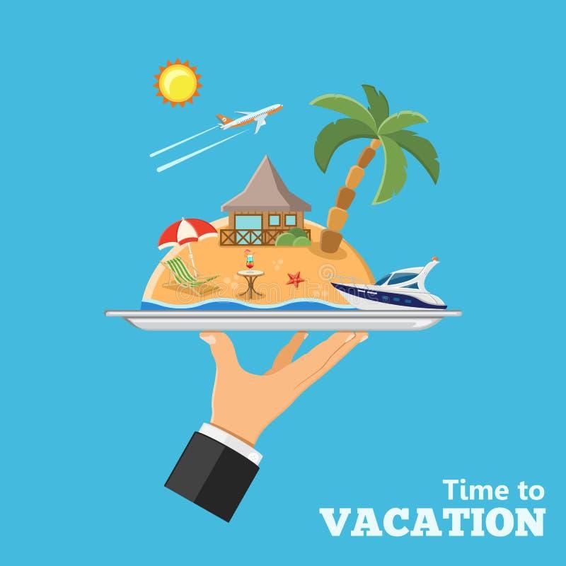Ferien- und Reisekonzept vektor abbildung