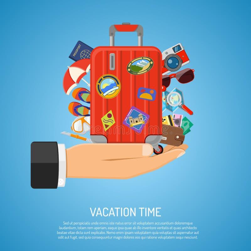Ferien- und Tourismuskonzept lizenzfreie abbildung
