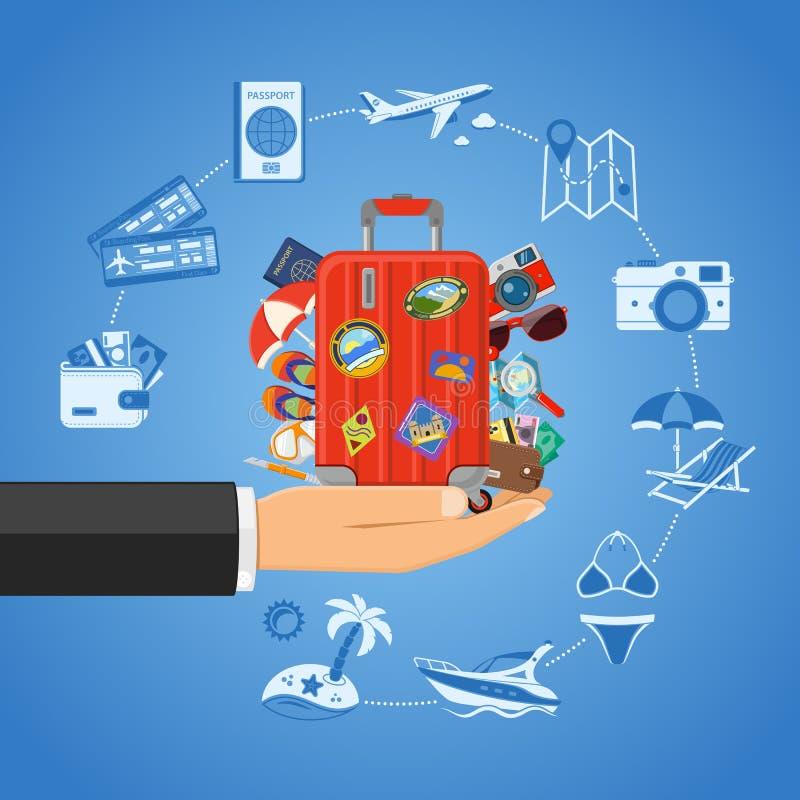 Ferien- und Tourismuskonzept stock abbildung