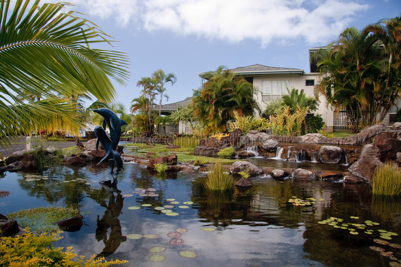 Ferienentwicklung in Kauai lizenzfreies stockfoto