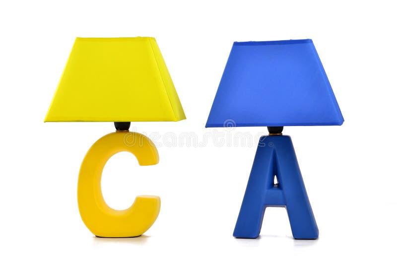 Feriengeschenk, geführte Tischlampe, Schreibtischlampe, Schreibtischbeleuchtung, Kunstlicht, Kunstlampe, Kunst lightingï ¼ ŒKeeps lizenzfreies stockbild