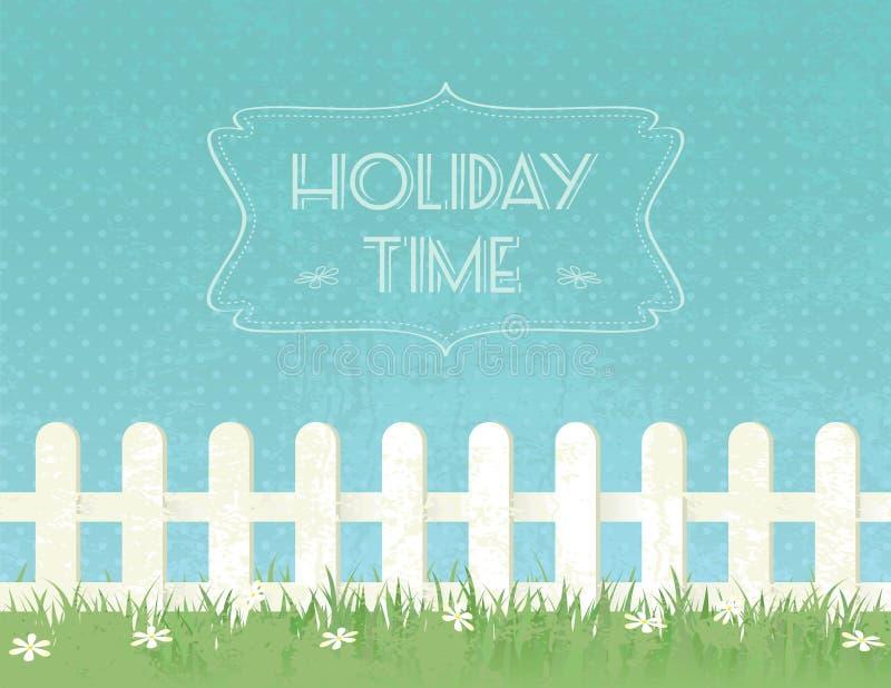 Ferienzeit stock abbildung