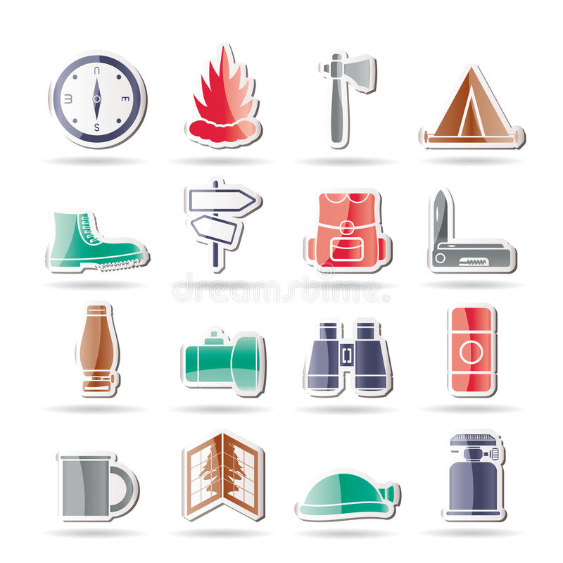 feriesymbolsturism vektor illustrationer