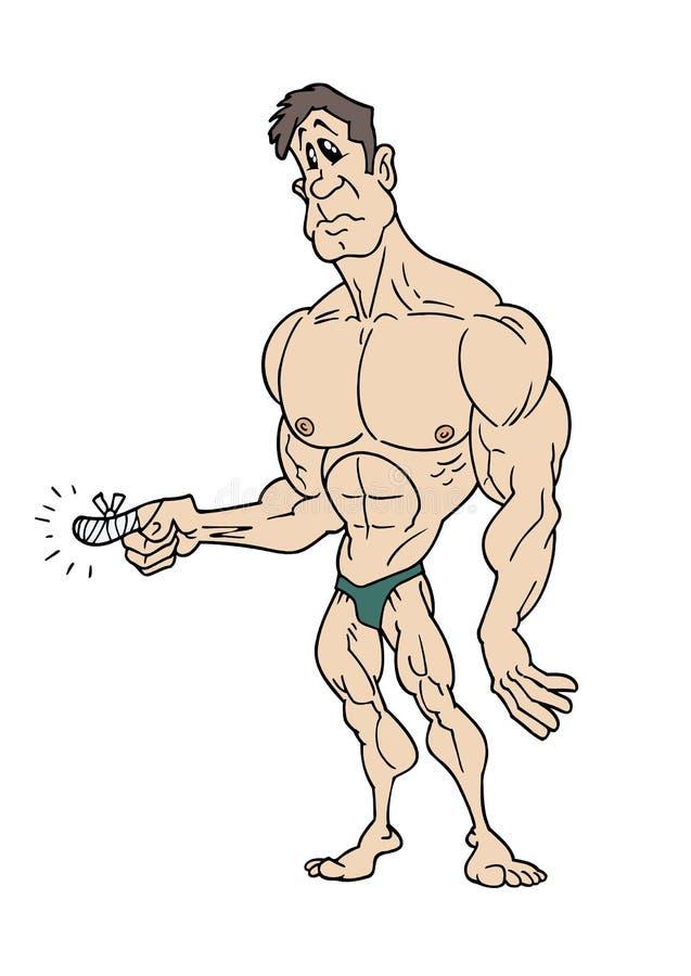 Ferimento do body building ilustração do vetor
