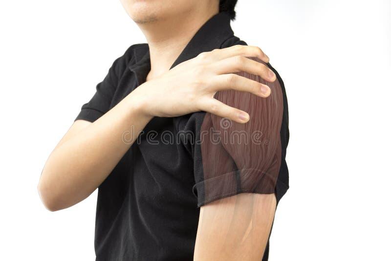Ferimento do músculo do ombro imagem de stock