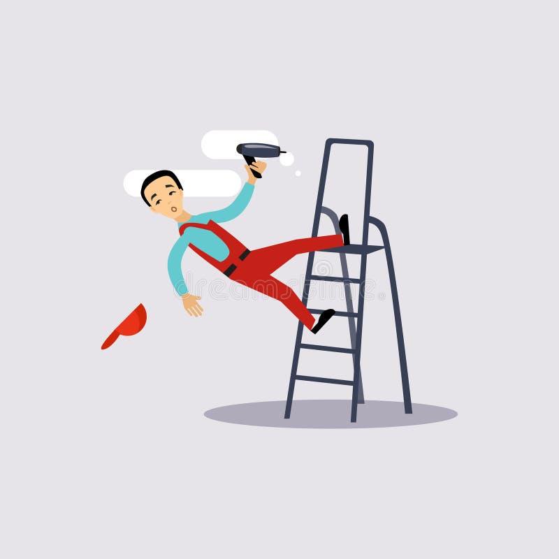 Ferimento no seguro do trabalho ilustração stock