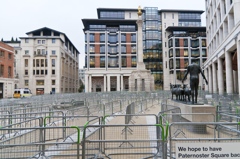 Fermé carré de Paternoster à Londres, 2012 photos stock