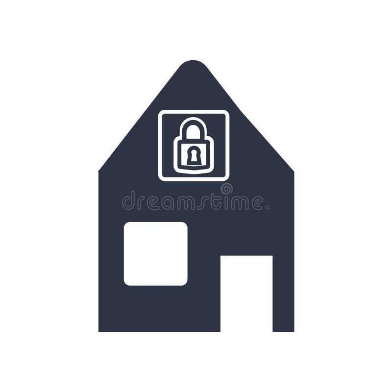 Fermant à clef le signe et le symbole de vecteur d'icône d'isolement sur le fond blanc, fermant à clef le concept de logo illustration de vecteur