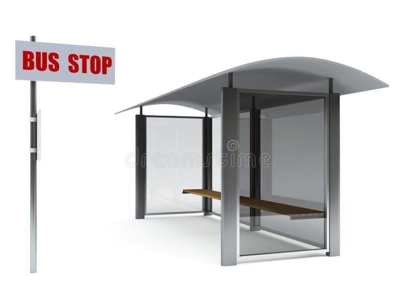 Fermata dell'autobus royalty illustrazione gratis