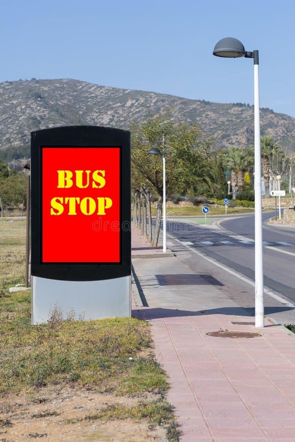 Download Fermata dell'autobus fotografia stock. Immagine di rettangolare - 56889560