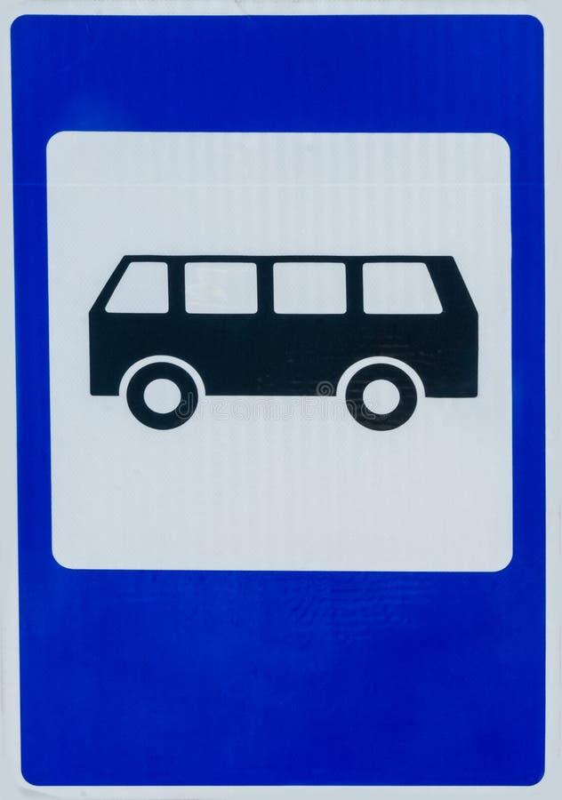 fermata dell'autobus del segno fotografie stock libere da diritti