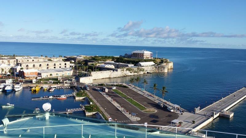 Fermata della linea di crociera in Bermude immagine stock libera da diritti