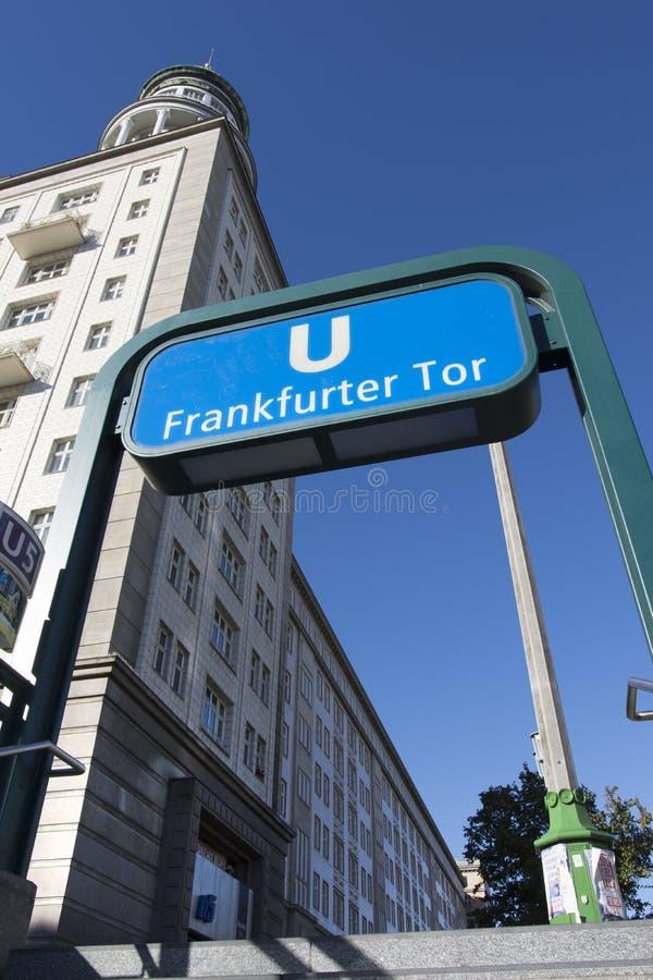 Fermata della metropolitana a Berlino immagine stock