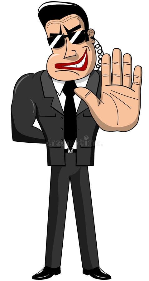 Fermata di Hand Security Isolated della guardia del corpo illustrazione vettoriale