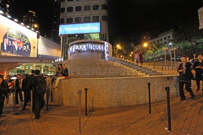 Fermata di punta del treno in Hong Kong fotografie stock