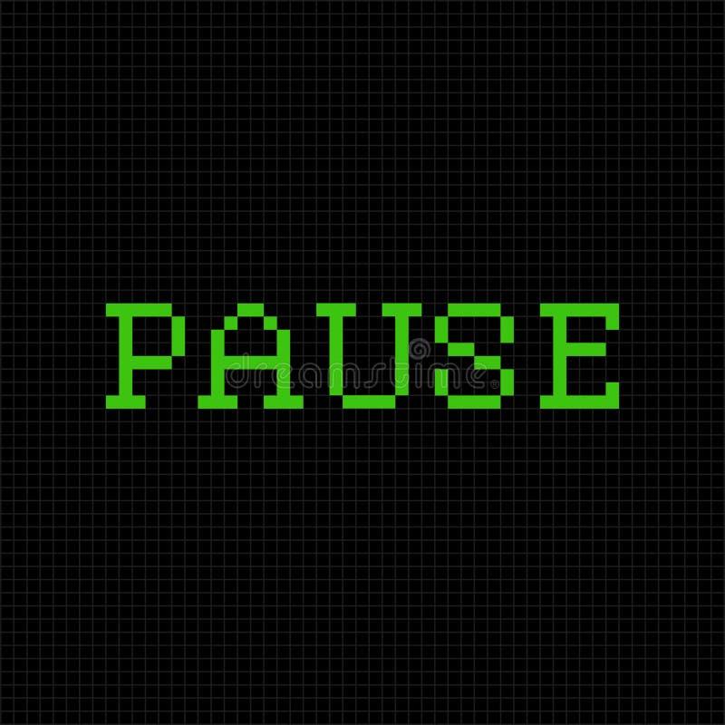 fermata Wektorowa piksel wiadomość tekstowa Piksel sztuki chrzcielnica ilustracji