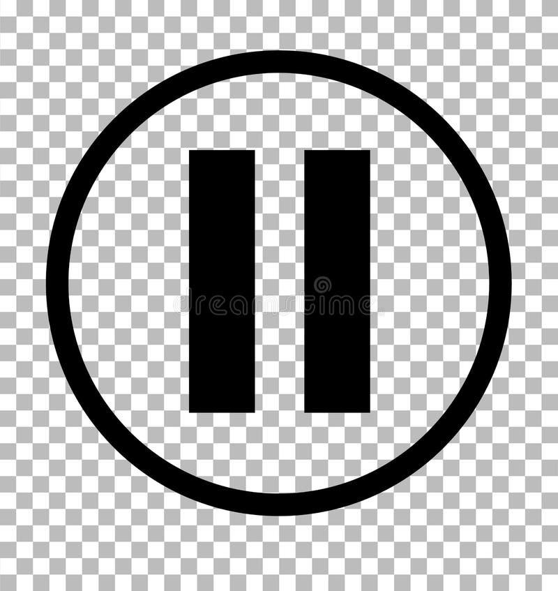 Fermata znak Zmrok - szara ikona na przejrzystym tle Fermaty ikona ilustracji