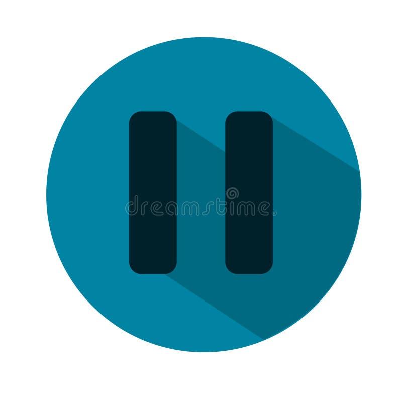 Fermaty ikony mieszkania ilustracja niebieska ikony również zwrócić corel ilustracji wektora zdjęcia stock