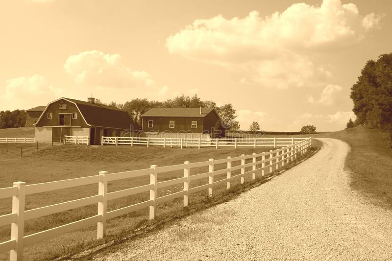 Ferme amish photographie stock