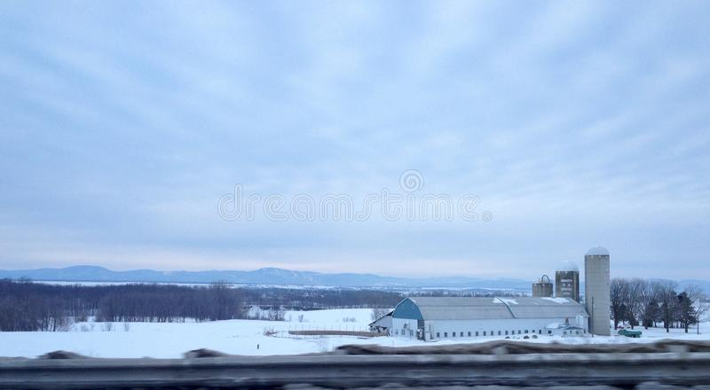 ferme canadienne photographie stock