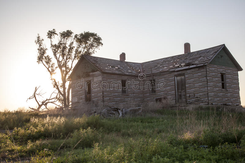 Ferme d'Abandonded photo stock