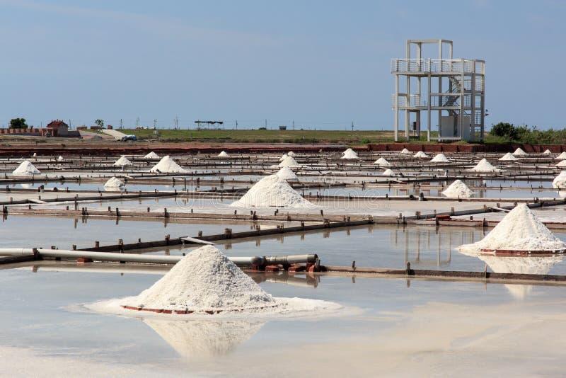 Ferme de sel à Tainan photographie stock libre de droits
