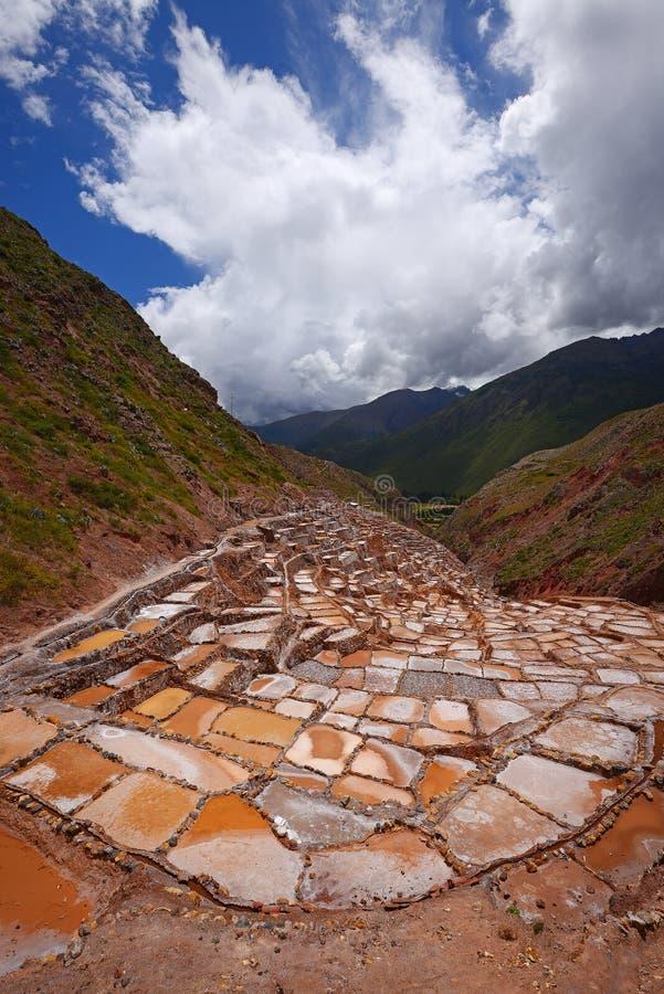 Ferme de sel d'Inca photographie stock libre de droits