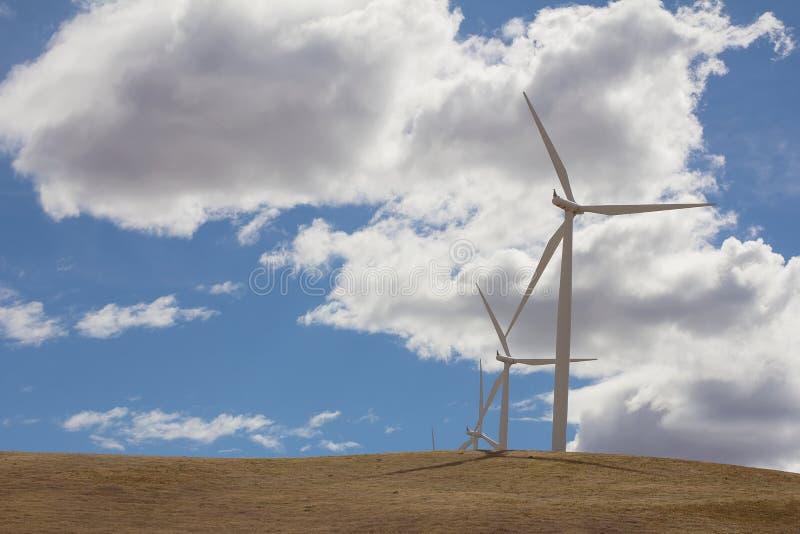 Ferme de turbines de vent dans Goldendale Washington photos stock