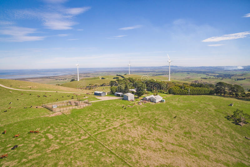 Ferme de vent dans l'Australie photographie stock