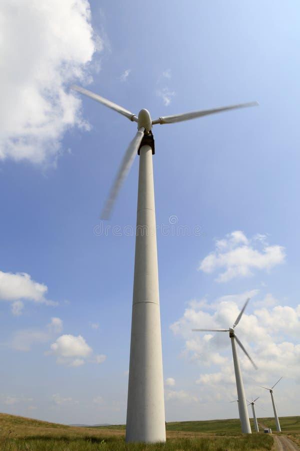Ferme de vent de Penrhyddlan et de LLidiartywaun photos libres de droits