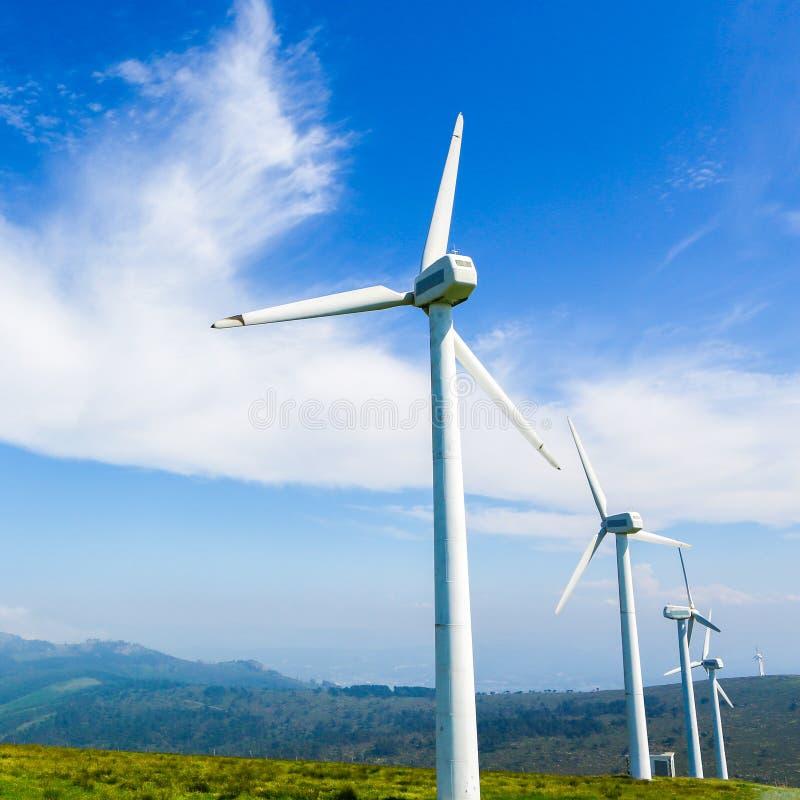 Ferme de vent terrestre - énergie renouvelable image libre de droits