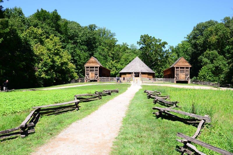Ferme et sentier piéton au ` s Mount Vernon de Washington photographie stock