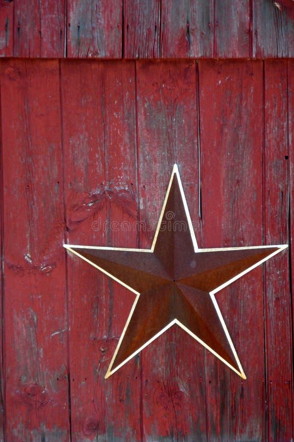 Ferme : Grange Rouge De Rouge D étoile Photo stock