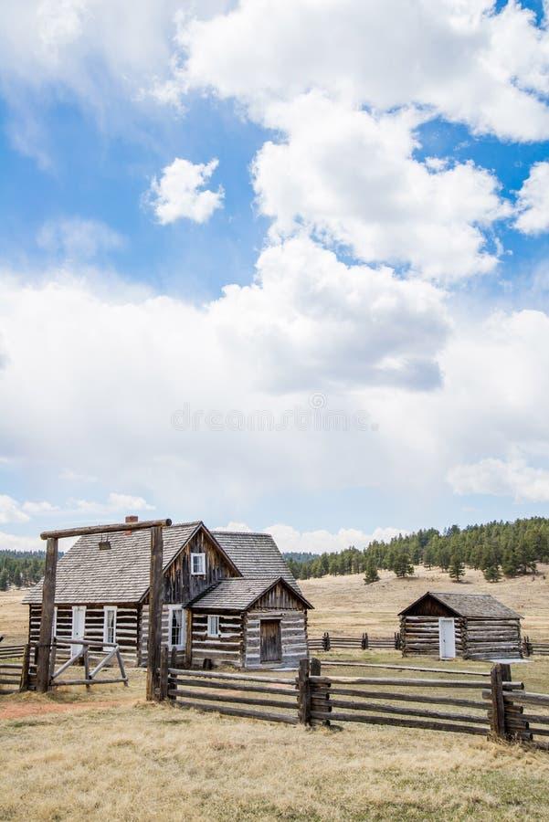 Ferme historique de ranch du Colorado de ferme de Hornbeck photo libre de droits