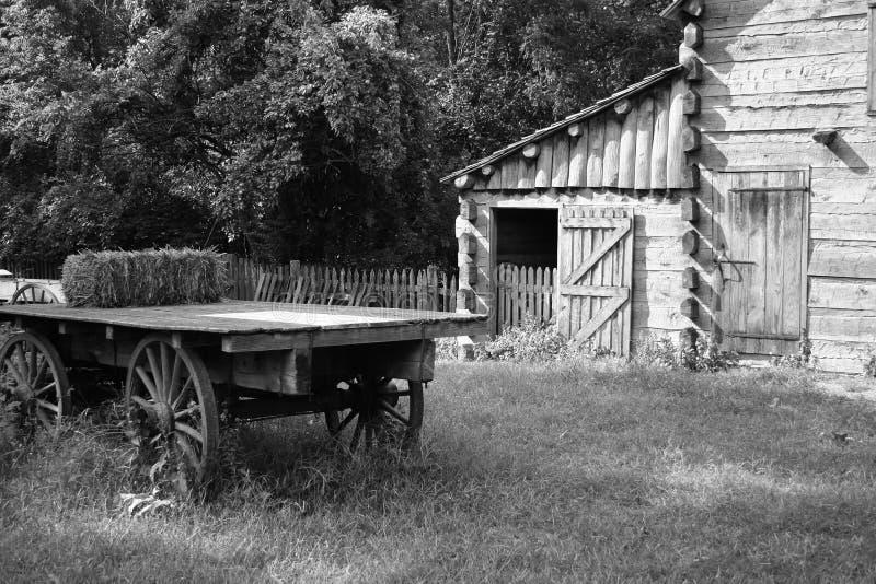 Ferme ou ranch de cru photo libre de droits