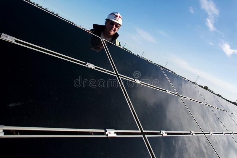 Ferme solaire image libre de droits