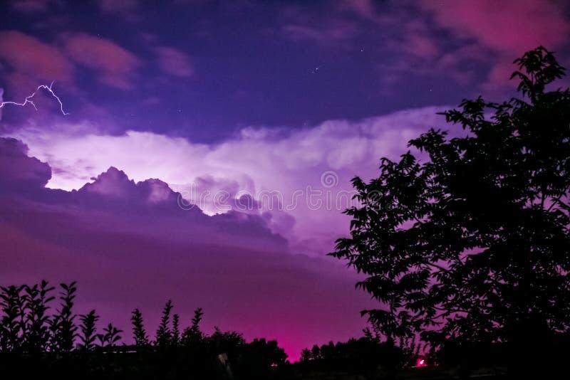 Fermentações tormentosos de uma noite em Arkansas fotografia de stock