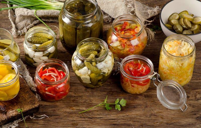 Fermented a préservé des légumes image libre de droits