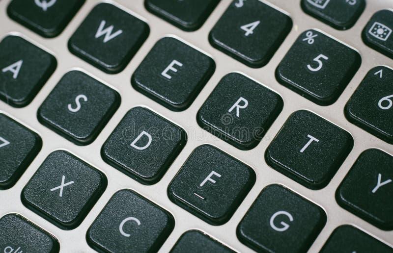 Fermer le clavier de l'ordinateur image stock