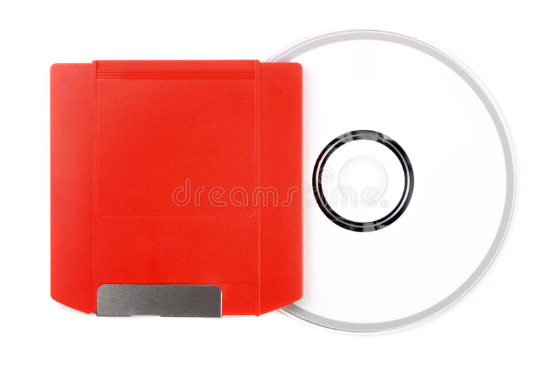Fermeture éclair au CD photos stock