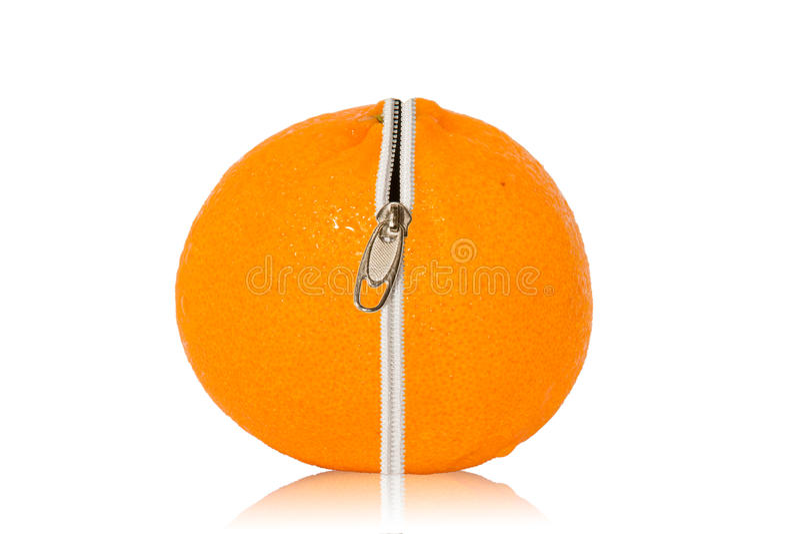Fermeture éclair orange images libres de droits
